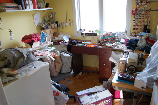 sewing room disaster...