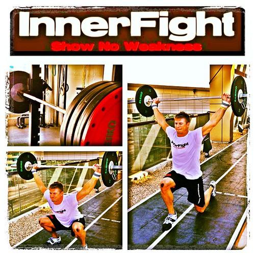 Yep lots of legs & lots of overhead today #fun #training #innerfight #evolve #strength