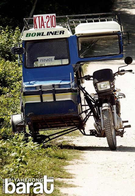 Tricycles transportation in bantayan island cebu