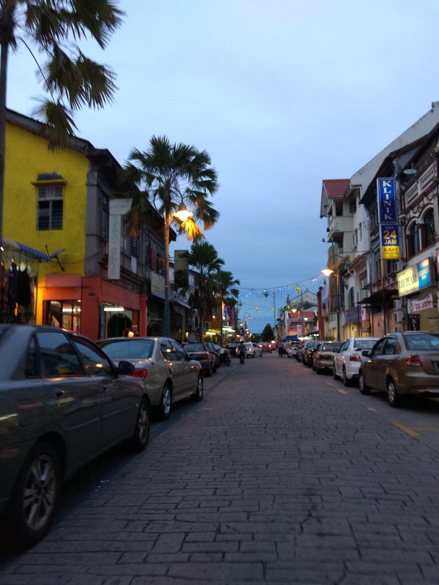 armenian street george town at night