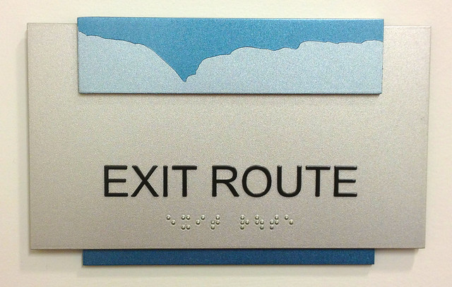 my brother chose his exit route