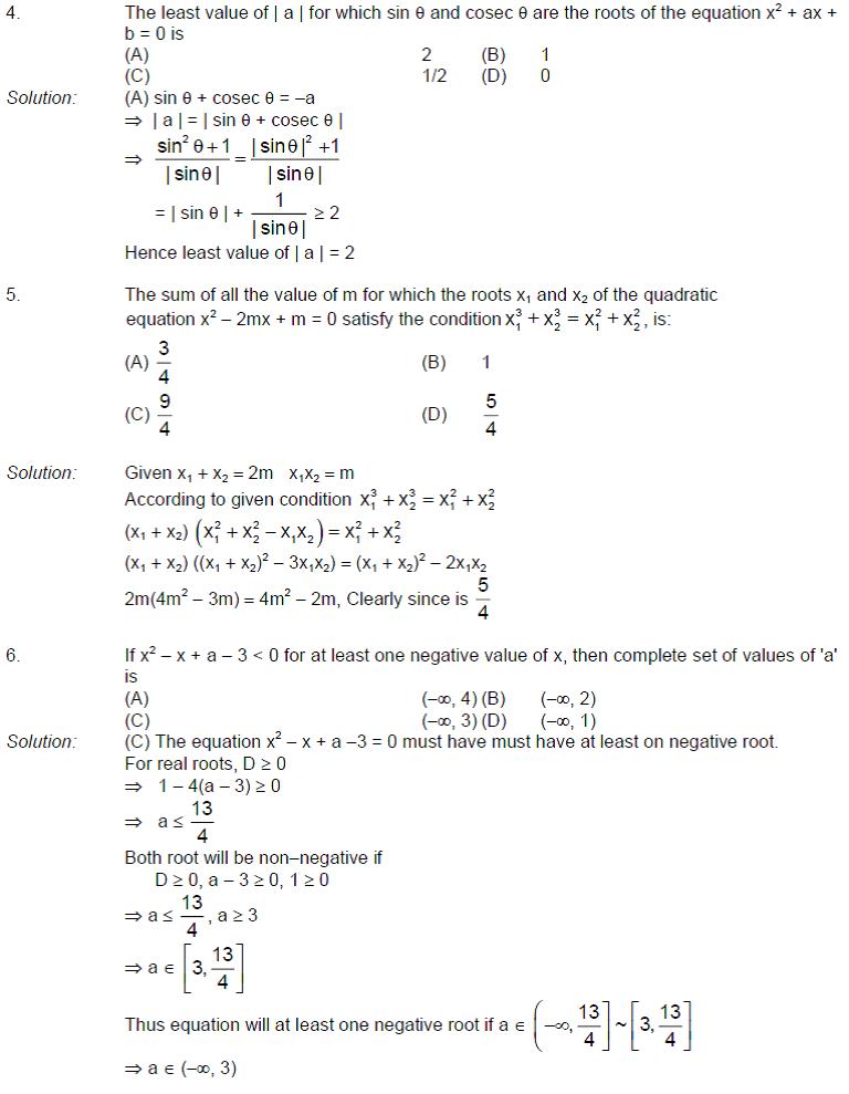 Quadratic Equations Notes