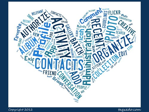 Flickr Heart prepared with @tagxedo