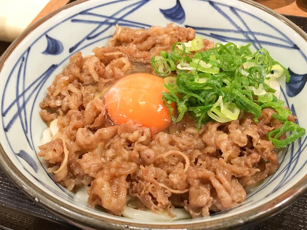 丸亀製麺 牛すき釜玉 #史上最幸肉量 #丸亀試食部