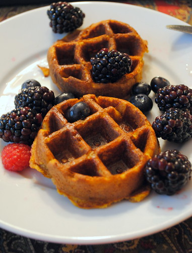 Mini Spiced Pumpkin Waffles