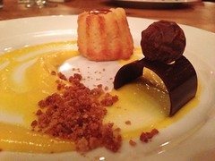Brown Butter Financier with Mango Curd and Streusel - City Grit