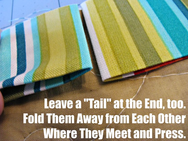 How to Bind a Quilt, Connecting Ends 1