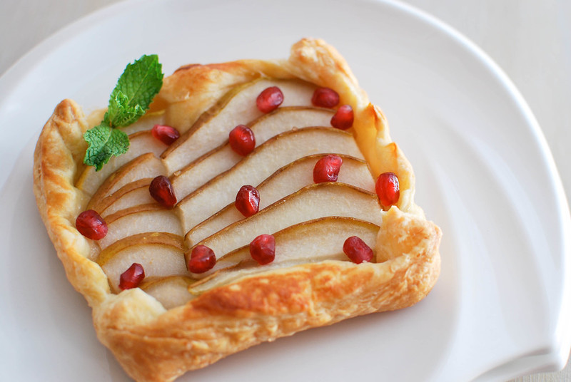 Pomegranate-Pear Tarts