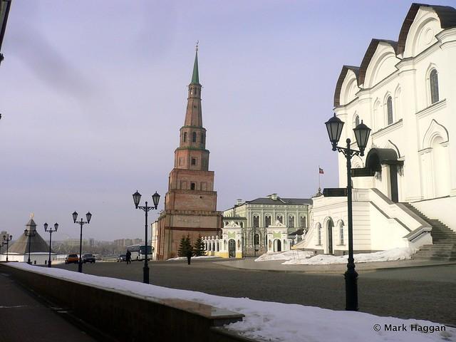 The Soyembika tower at the Kremlin in Kazan, Russia