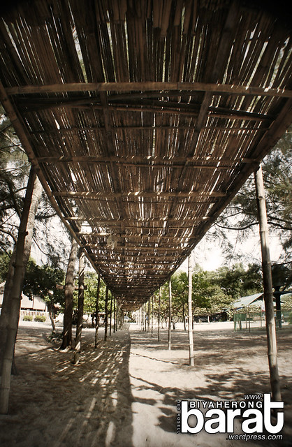 covered walkway in la paz crystal beach resort san narciso zambales