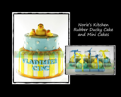 Norie's Kitchen - Rubber Ducky Cake and Mini Cakes by Norie's Kitchen