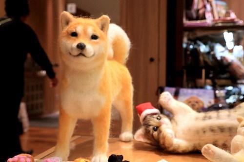 Dog & Cat Doll - GINZA Illumination2012