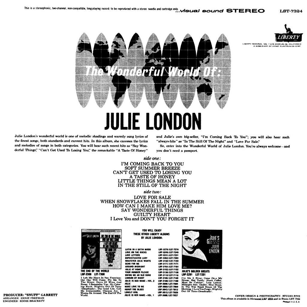 Julie London - The Wonderful World of Julie London