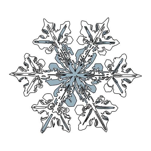 Handmade Snowflake Christmas Card