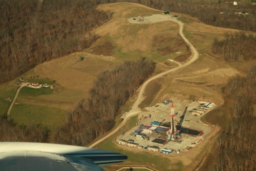 Drilling Marcellus Shale Gas well, SW PA