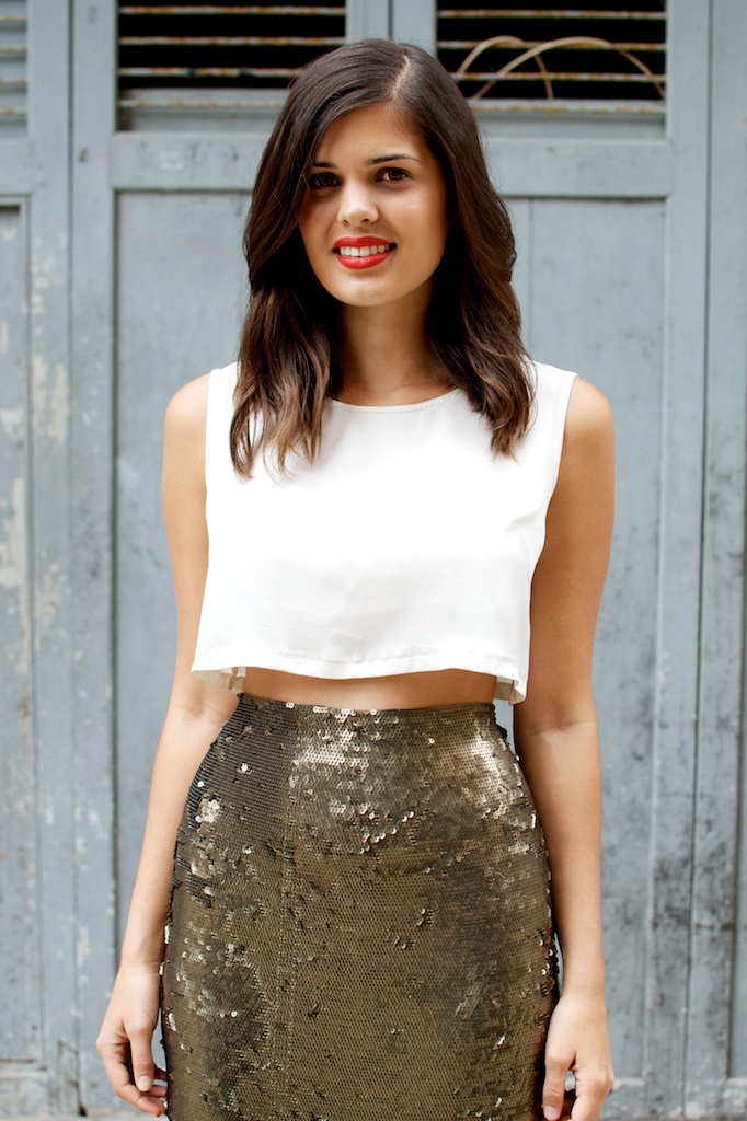 DIY Sequin Maxi Skirt 5
