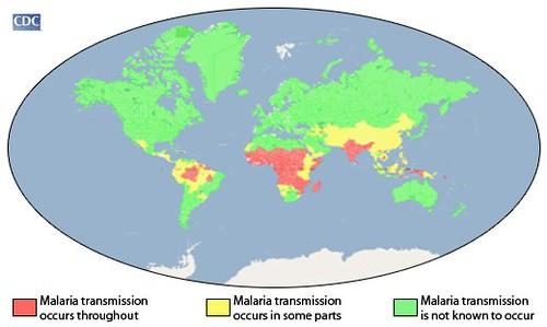 CDC Malaria Endemic areas