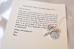 Oscar Wilde Love Letter Charm Necklace by Ciarrai Studios