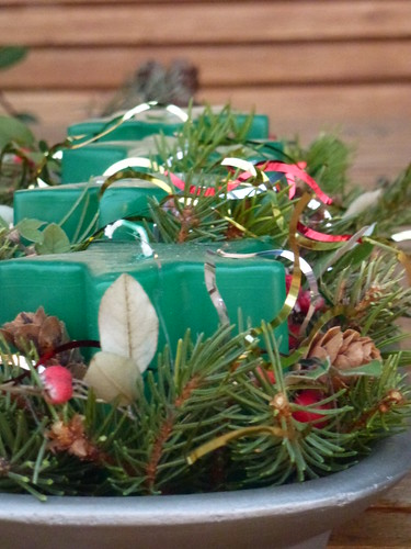 Green Christmas Candle Decoration