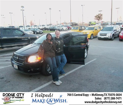Congratulations to RONDA JACKSON on the 2007 DODGE CALIBER by Dodge City McKinney Texas