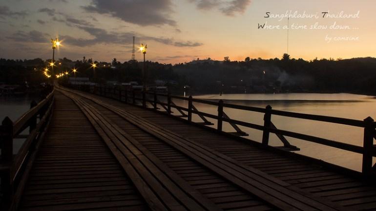 สะพานมอญ เปิดไฟ - สังขละบุรี