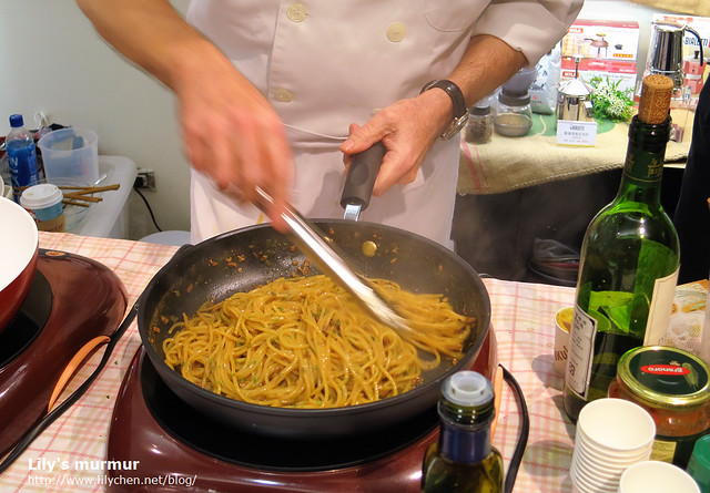這是Giorgio給的特別Service,不在現場菜單裡面的特製義大利麵,超好吃!