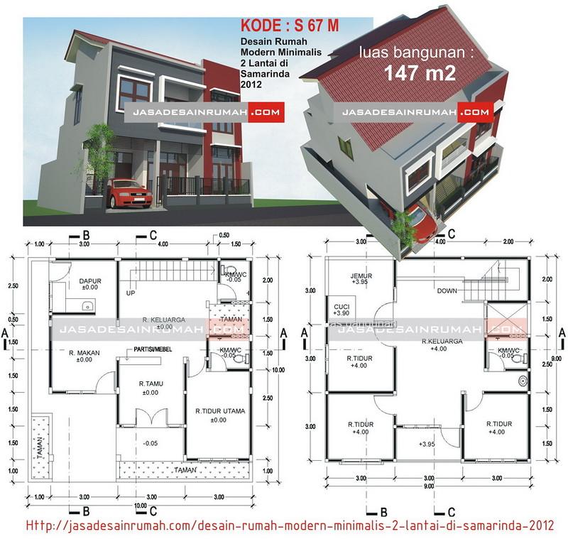 Desain Rumah Modern Minimalis 2 Lantai Di Samarinda 2012 Jasa