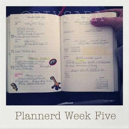 My Plannerd Week Five