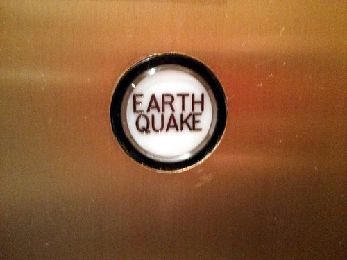 EARTHQUAKE button, Sheraton, Seattle, WA, USA