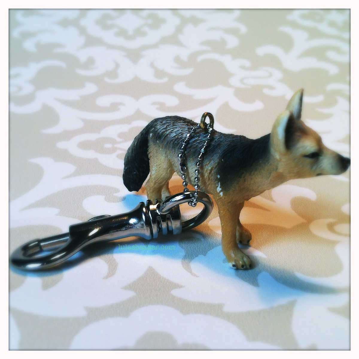 German Shepard toy key ring
