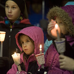 Candlelight vigil for the victims at Sandy Hook Elementary. Photo by Josalee Thrift.