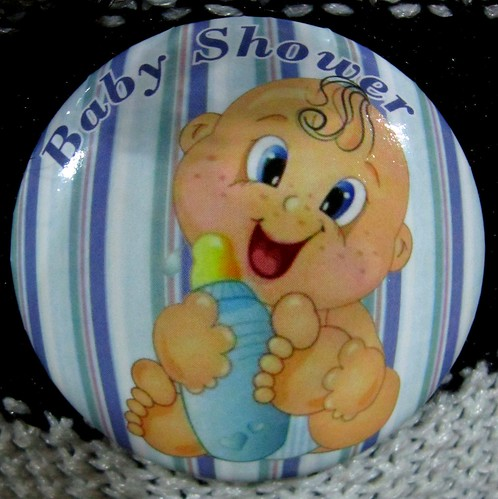 ¡Botón del babyshower de #littlesoda! :3