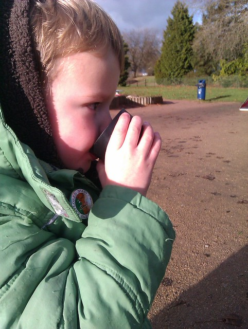 Hot chocolate at the park