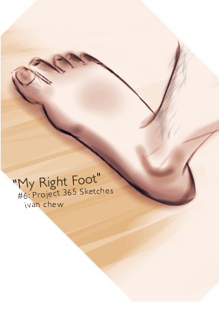 """My Right Foot"" (#6: Project 365 Sketches)"