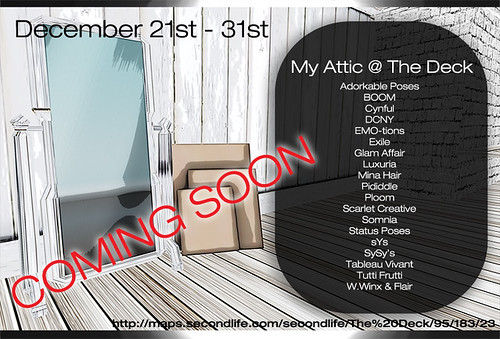 My Attic December 21st - 31st Stores List