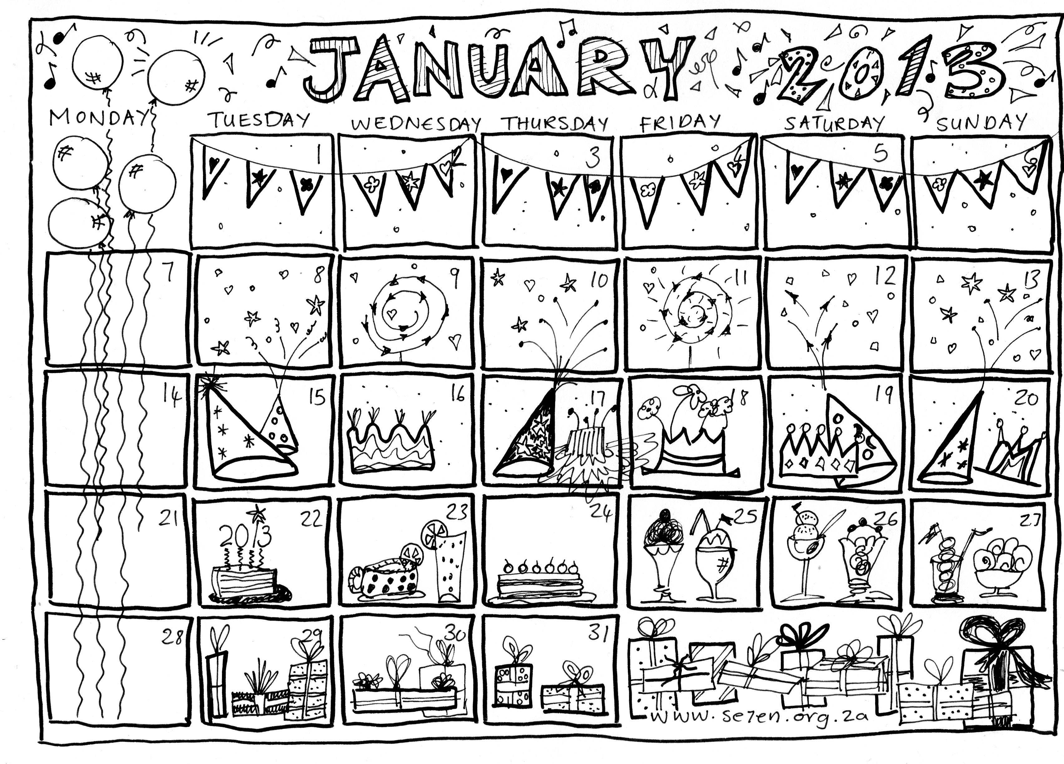 Se7en 1 S January Calendar Is Here Se7en