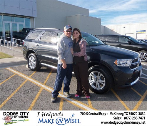 Congratulations to Chastity Atchley on the 2013 Dodge Durango! by Dodge City McKinney Texas
