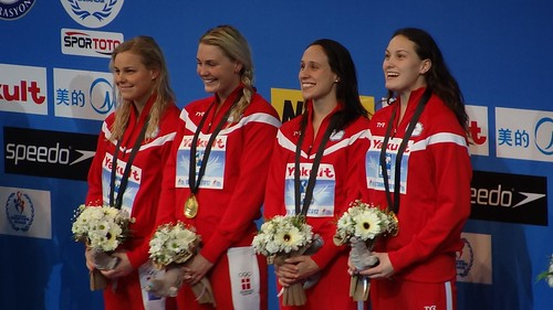 Happy Danes on the Istanbul 2012 podium