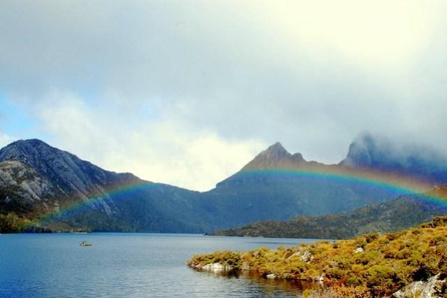 Rainbow over Dove Lake