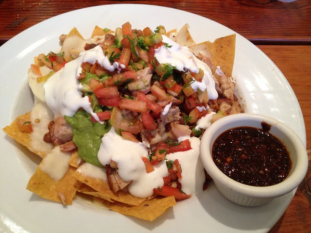 Cancun nachos with pollo asado - Cancun Sabor Mexicano
