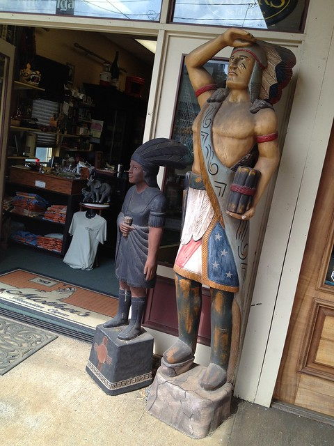 Indian wooden statues