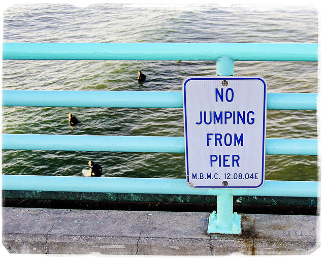 No Jumping From Pier