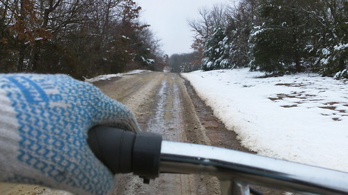 cycling through the melting snow