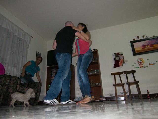 Salsa dancing with Lina