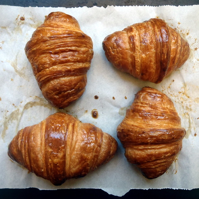 Homemade croissants