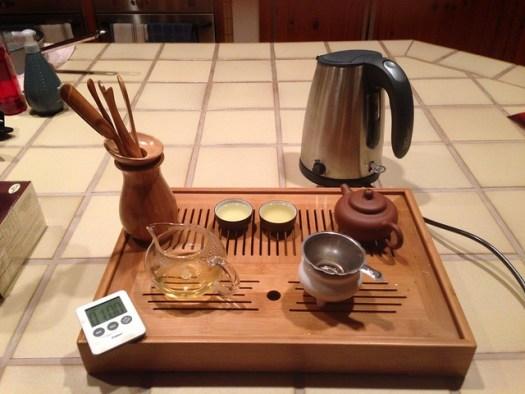 Gongfu Style Tea Brewing- Photo courtesy of Jonathan Lobel