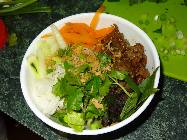 Grilled Pork and Vermicelli Bowls with Fresh Veggies (Bun Thit Nuong)