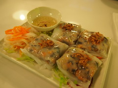 "Vietnamese steamed rice rolls ""Cheung fun"""