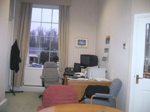 My office in Donington Hall in 2009