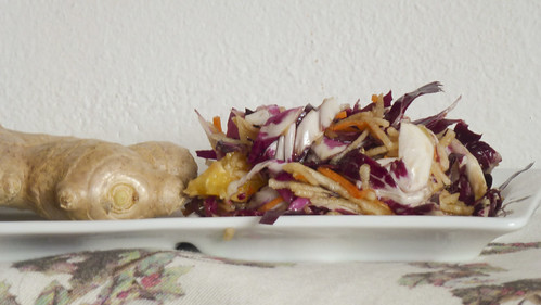 Mixed salad with ginger - Insalata mista con zenzero